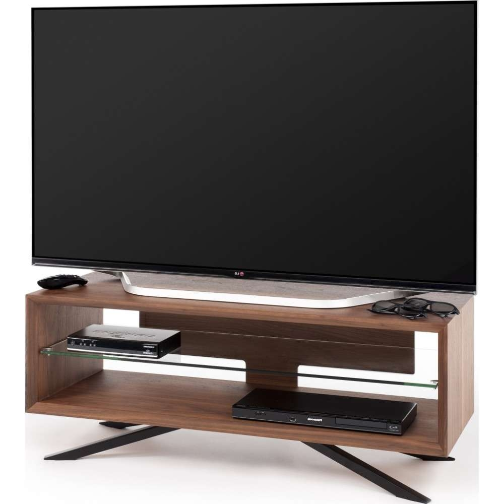 Chrome Plated Pyramidal Base; Cable Management And Power Strip Inside Techlink Arena Tv Stands (View 8 of 15)