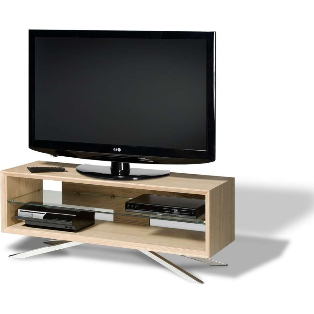 Chrome Plated Pyramidal Base; Cable Management And Power Strip Pertaining To Techlink Arena Tv Stands (View 4 of 15)