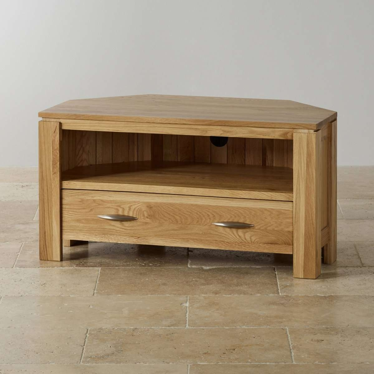 Chunky Light Oak Corner Tv Cabinet | Memsaheb Inside Chunky Tv Cabinets (View 4 of 20)