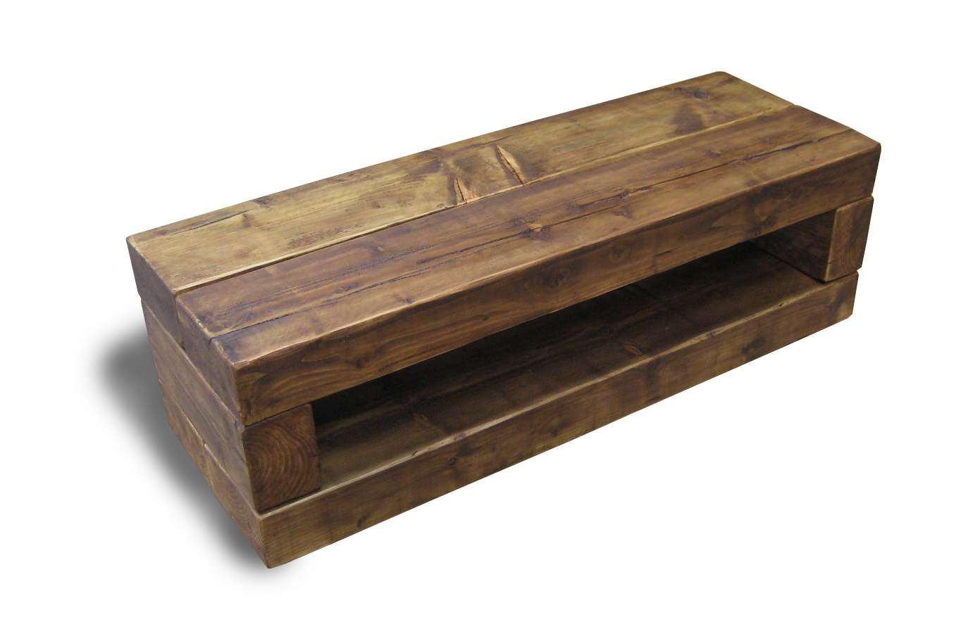 Chunky Stretch Tv Stand – The Cool Wood Company With Regard To Dark Wood Tv Stands (View 2 of 15)