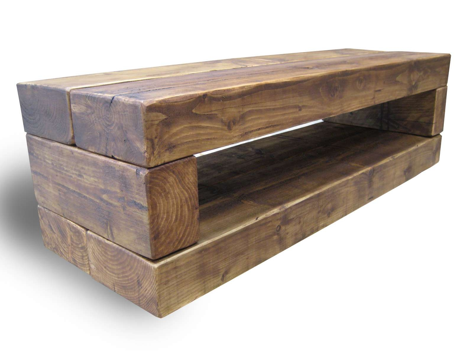 Chunky Stretch Tv Stand – The Cool Wood Company Within Rustic Oak Tv Stands (View 3 of 15)
