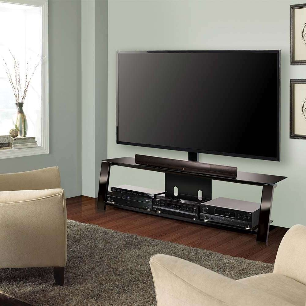 Classic Flame Tp4463 Bell O 63 2 Shelf Triple Play Universal Flat Inside Bell'o Triple Play Tv Stands (View 14 of 15)
