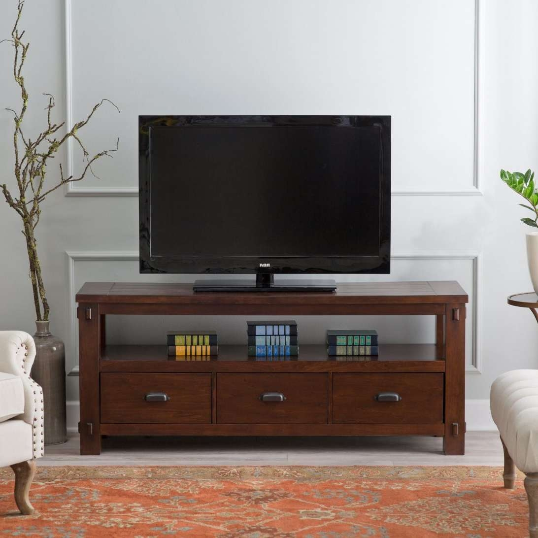 Classic Media Storage Tv Stand Books Decor Branch Houseplant Round With Regard To Round Tv Stands (View 13 of 15)