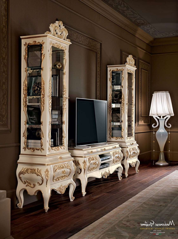 Classic Tv Cabinet / Lacquered Wood – Villa Venezia – Modenese Regarding Classic Tv Cabinets (View 1 of 20)
