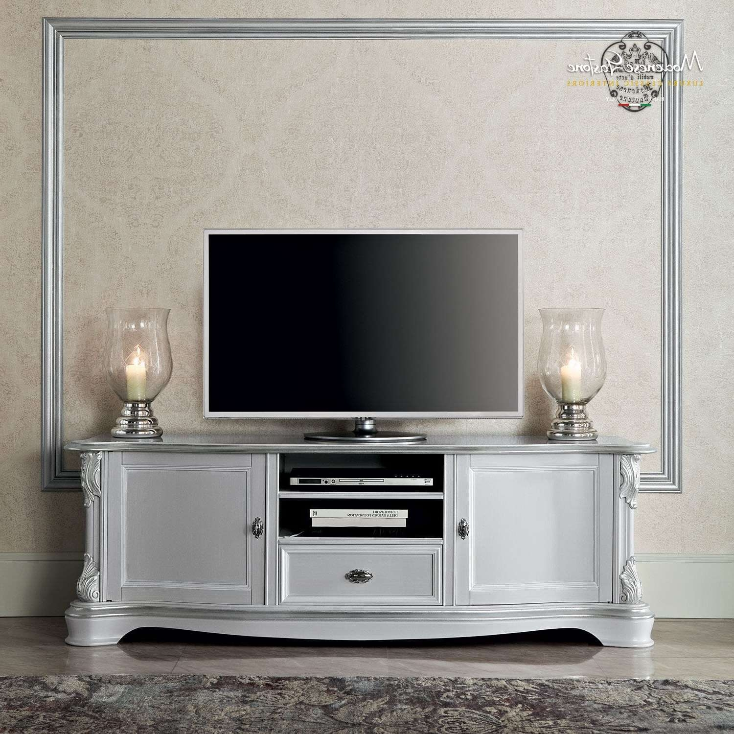 Classic Tv Cabinet / Solid Wood – Bella Vita – Modenese Gastone Inside Classic Tv Stands (View 4 of 20)