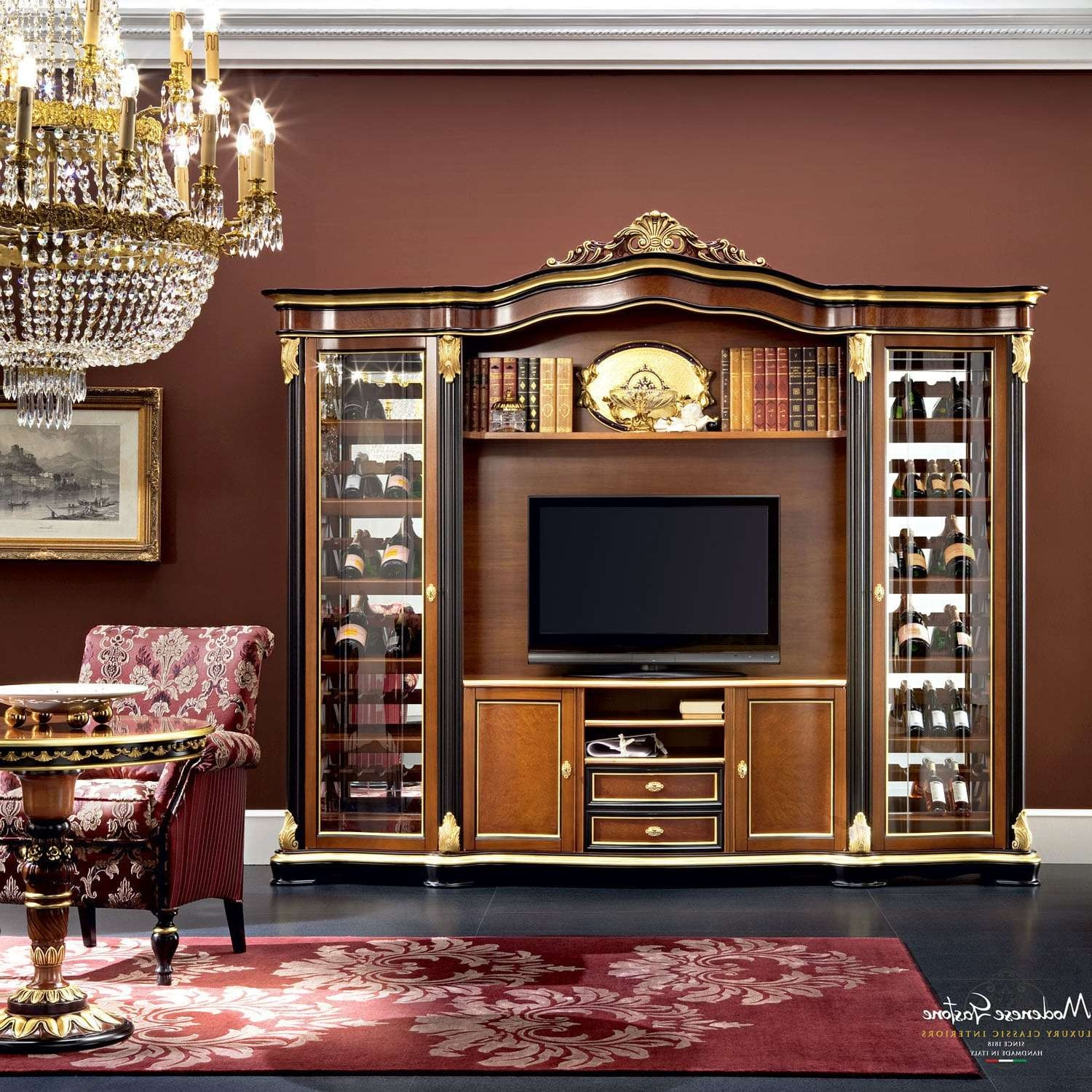 Classic Tv Cabinet / Solid Wood – Bella Vita – Modenese Gastone Within Classic Tv Cabinets (View 15 of 20)
