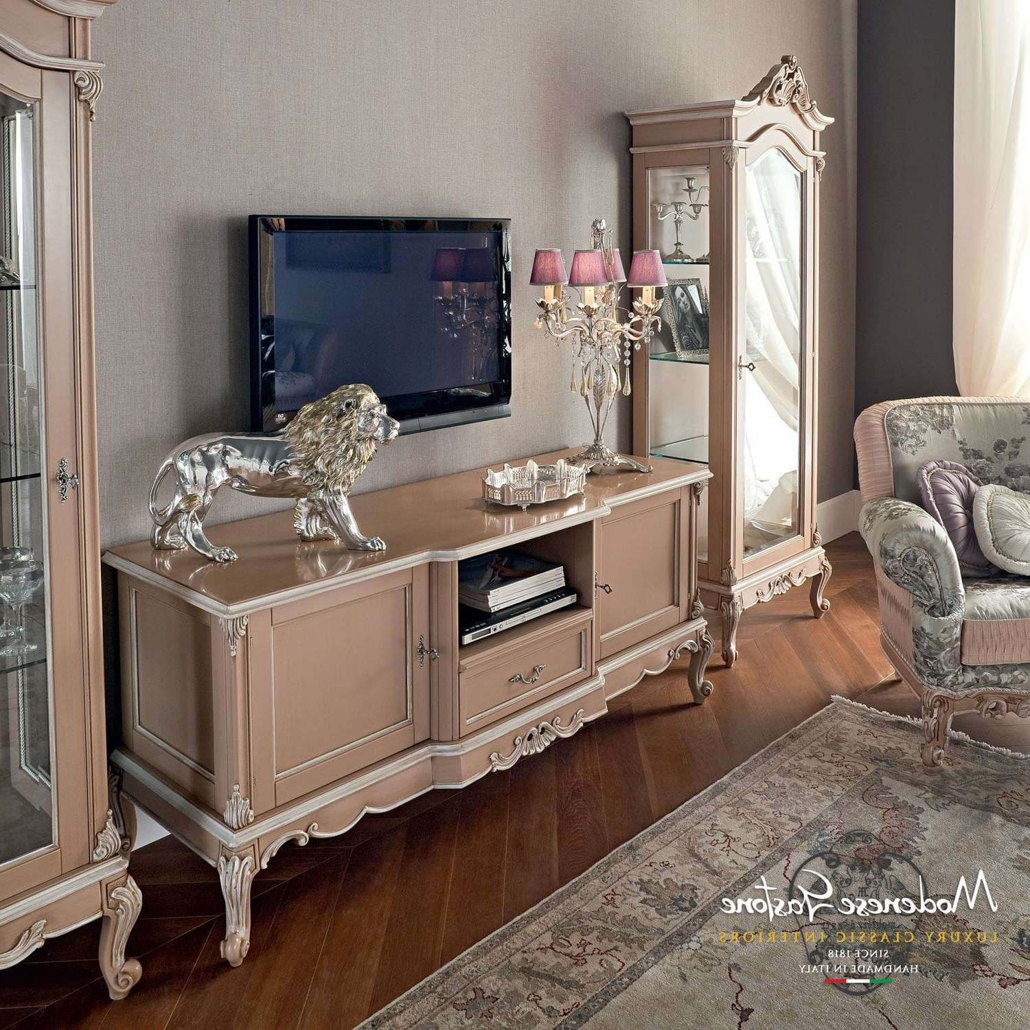 Classic Tv Cabinet / Wooden – (View 3 of 20)