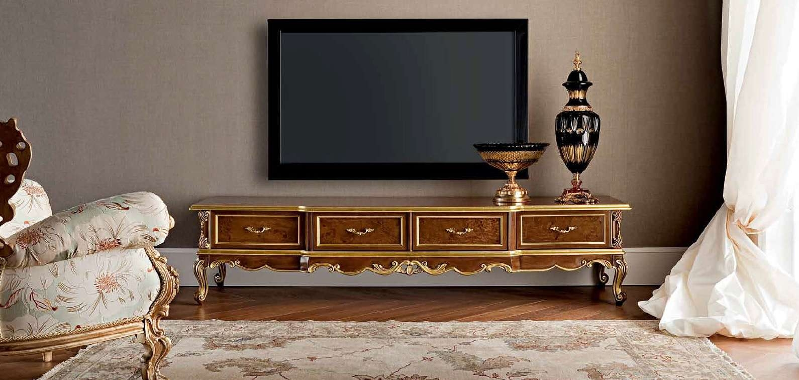 Classic Tv Cabinet / Wooden – (View 8 of 20)