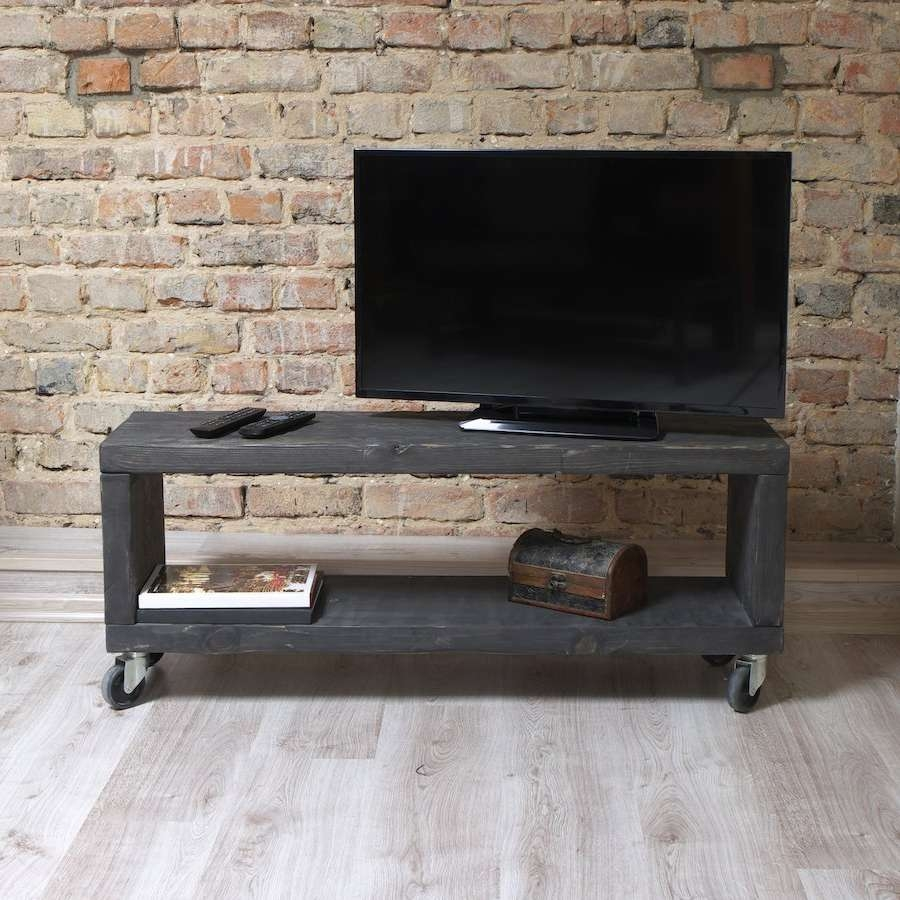Classy Custom Made Vintage Industrial Tv Steel Reclaimed With Regard To Industrial Tv Stands (View 5 of 15)