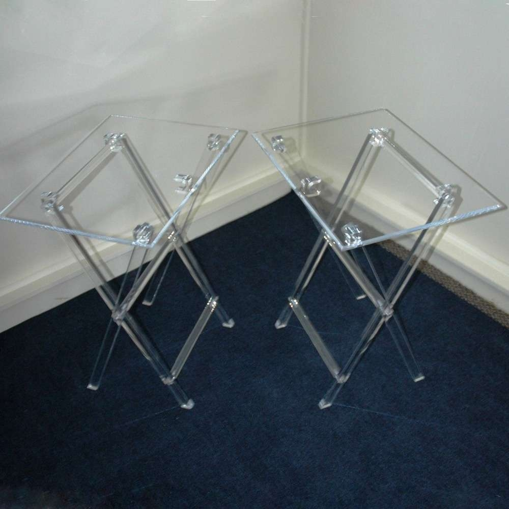 Clear Acrylic Folding Tv Tray Table Tv Stand,snack Tray Snack With Clear Acrylic Tv Stands (View 5 of 15)