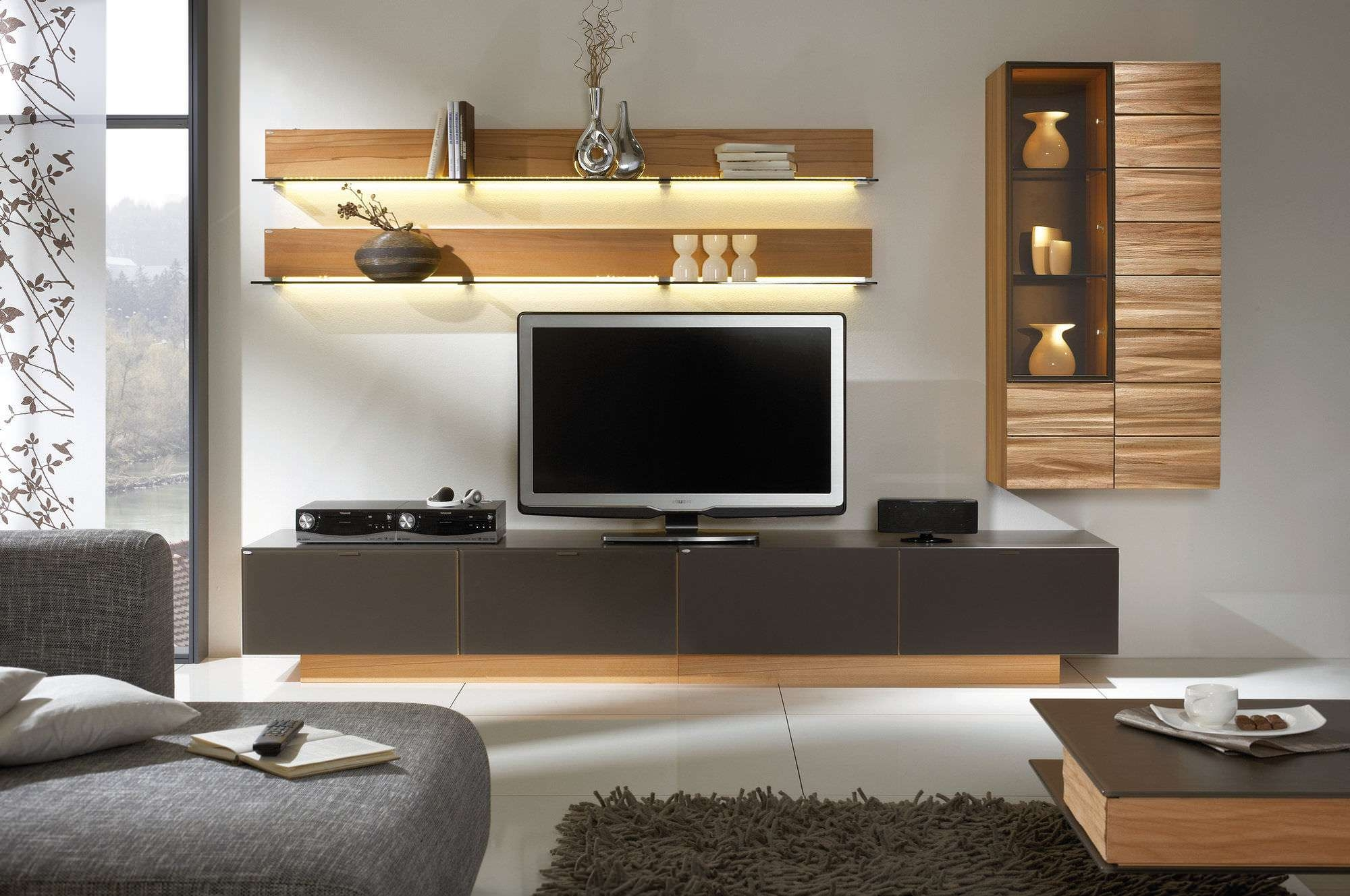 Clever Wooden Living Room Tv Stand Design Ideas And Living Room With Regard To Tv Cabinets Contemporary Design (View 13 of 20)