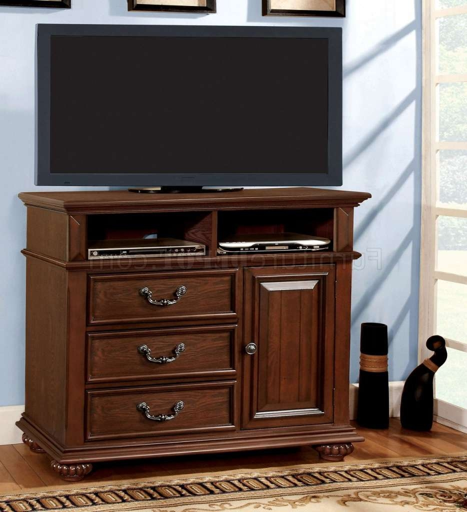 Cm7811 Landaluce Tv Stand In Antique Style Dark Oak With Regard To Antique Style Tv Stands (View 6 of 15)