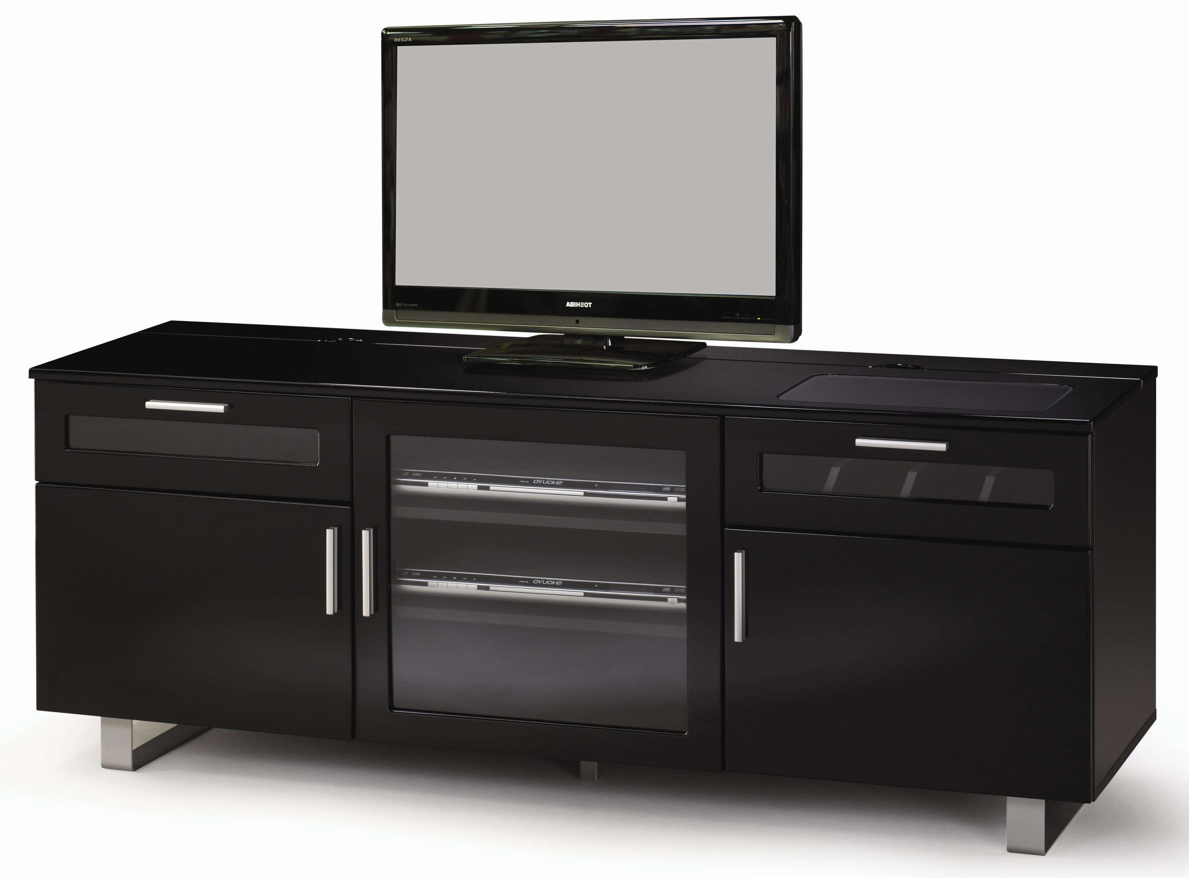 Coaster 700672 Tv Stands Contemporary Tv Console With High Gloss Regarding Black Modern Tv Stands (View 5 of 15)