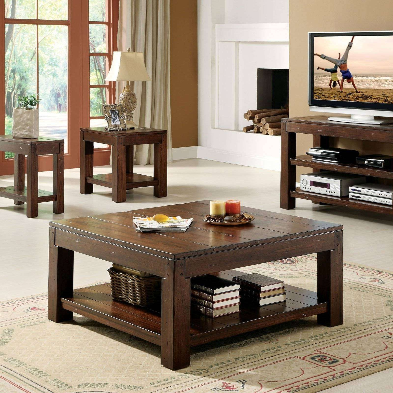 Coffee Table : Awesome Wooden Coffee Table And Tv Stand Coffee Pertaining To Rustic Coffee Table And Tv Stands (View 2 of 15)