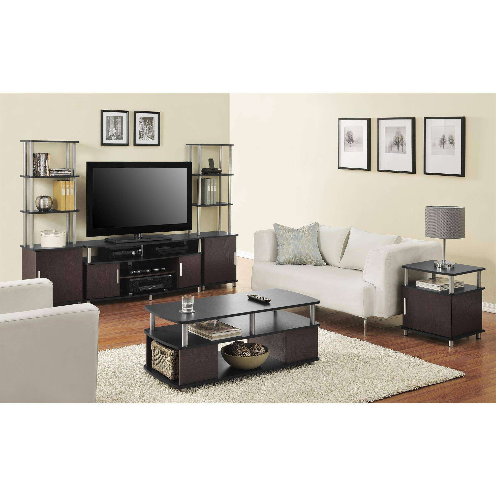 Coffee Table : Whalen Brown Cherry In Flat Panel Tv Stand For Tvs Pertaining To Coffee Tables And Tv Stands Matching (View 6 of 15)