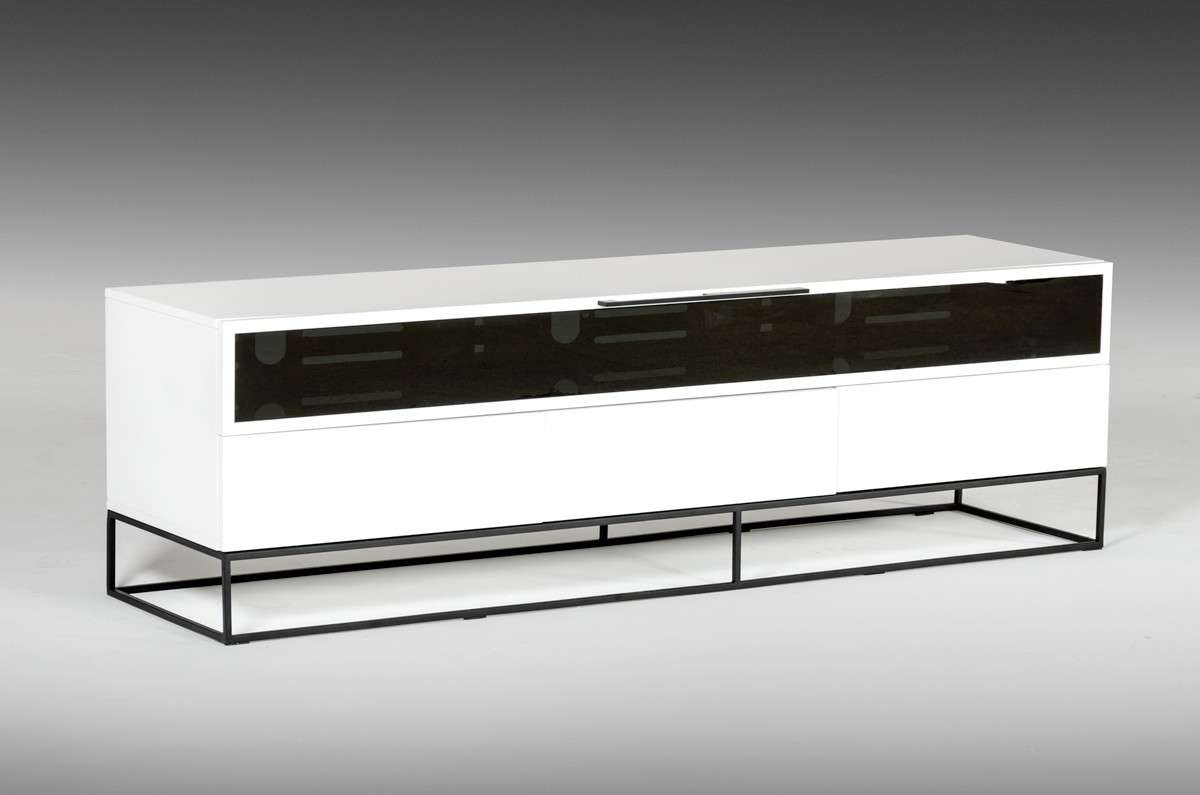 Colby Modern White & Black Tv Stand With Modern Black Tv Stands (View 10 of 20)