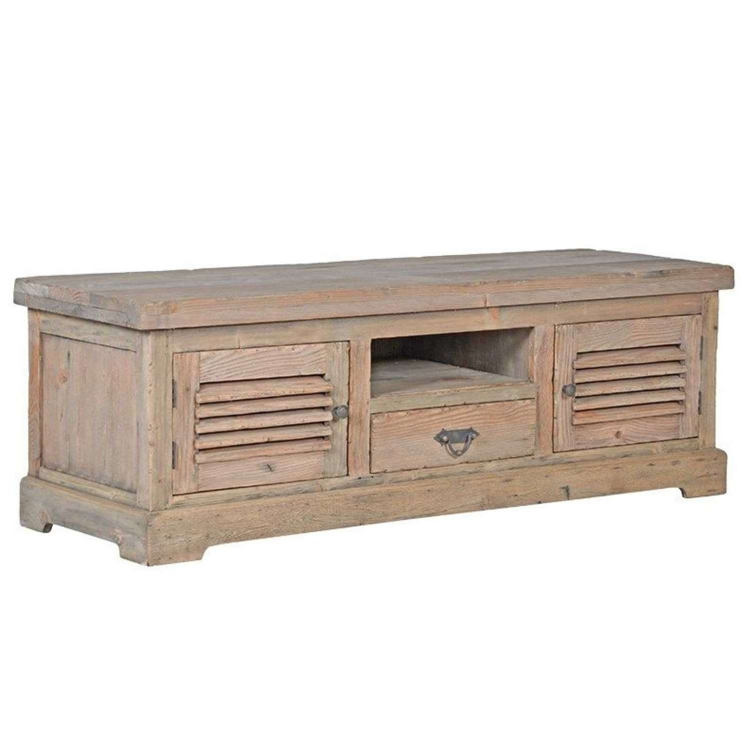 Colonial Reclaimed Pine Tv Cabinet With 2 Doors Regarding Pine Tv Cabinets (View 18 of 20)
