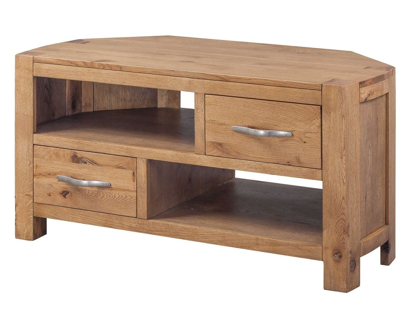 Como Rustic Oak Corner Tv Unit | Oak Furniture Uk Intended For Rustic Corner Tv Cabinets (View 3 of 20)