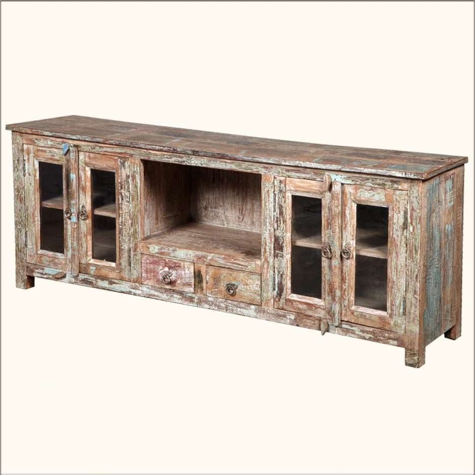 Console Tables : Long Low Profile Media Console Table With Large For Rustic White Tv Stands (View 8 of 15)