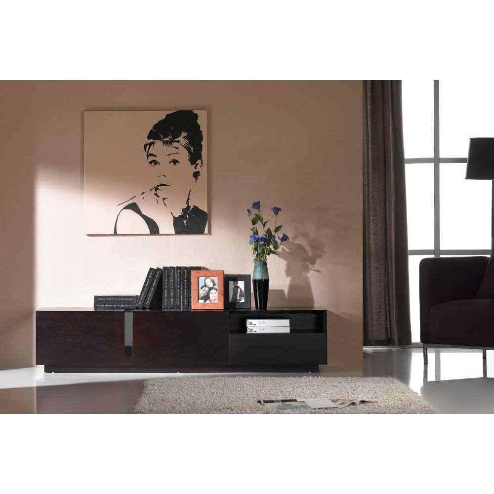 Contemporary Dark Oak Tv Stand, J&m Furniture – Modern Manhattan Pertaining To Dark Wood Tv Cabinets (View 5 of 20)