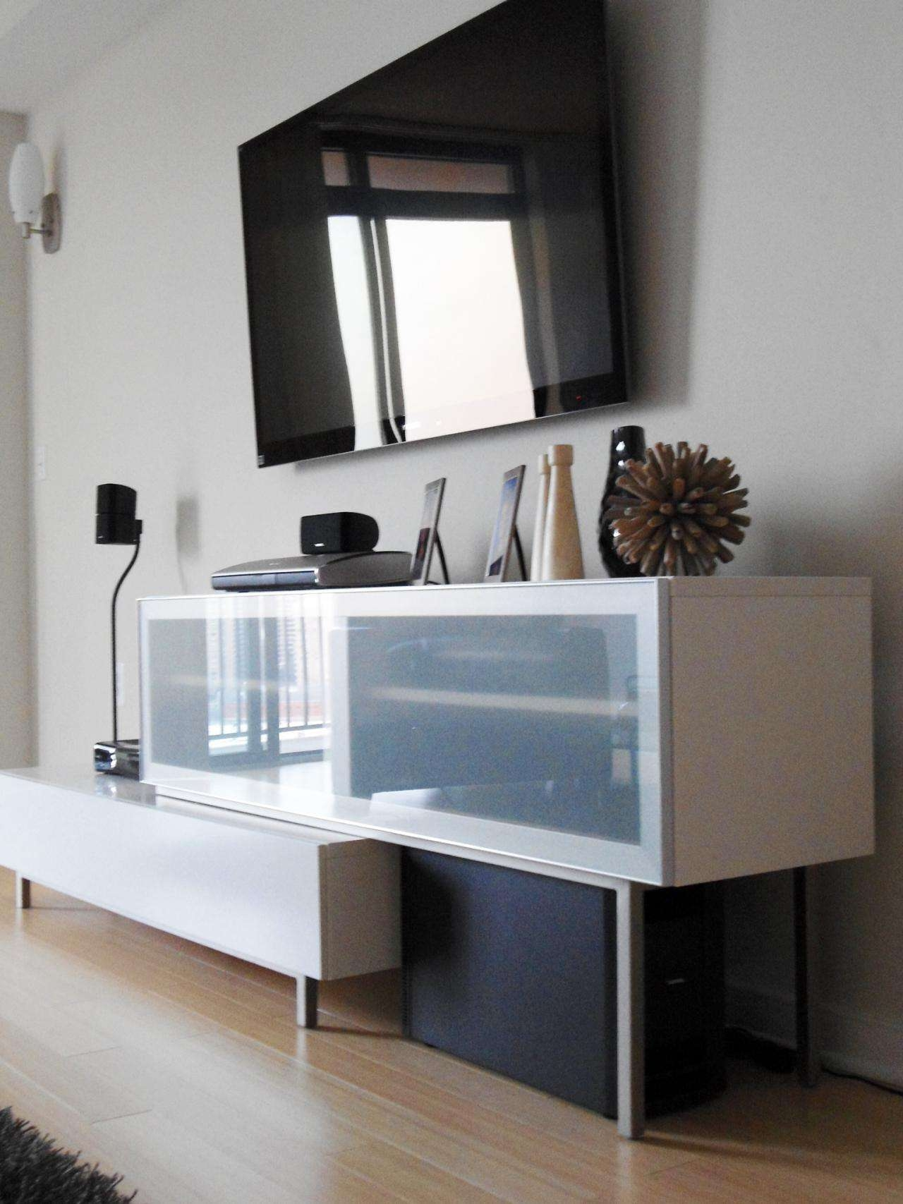Contemporary Media Storage Photo Page Living Room Console With Regarding Contemporary Tv Cabinets For Flat Screens (View 5 of 20)