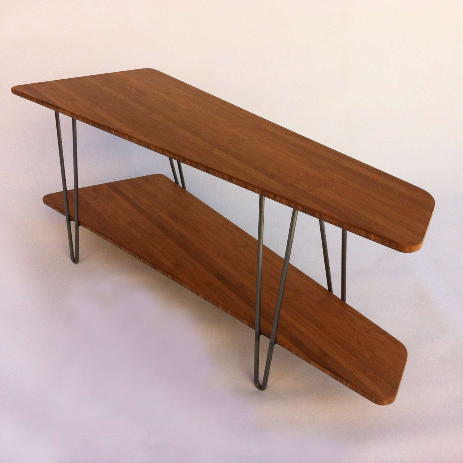 Contemporary Mid Century Modern Tv Stand Media Console With Shelf Within Hairpin Leg Tv Stands (View 2 of 15)