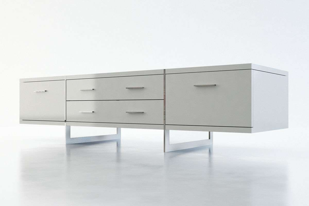 Contemporary Tv Cabinet / Wooden – Allen – Modloft With Modern White Lacquer Tv Stands (View 5 of 15)