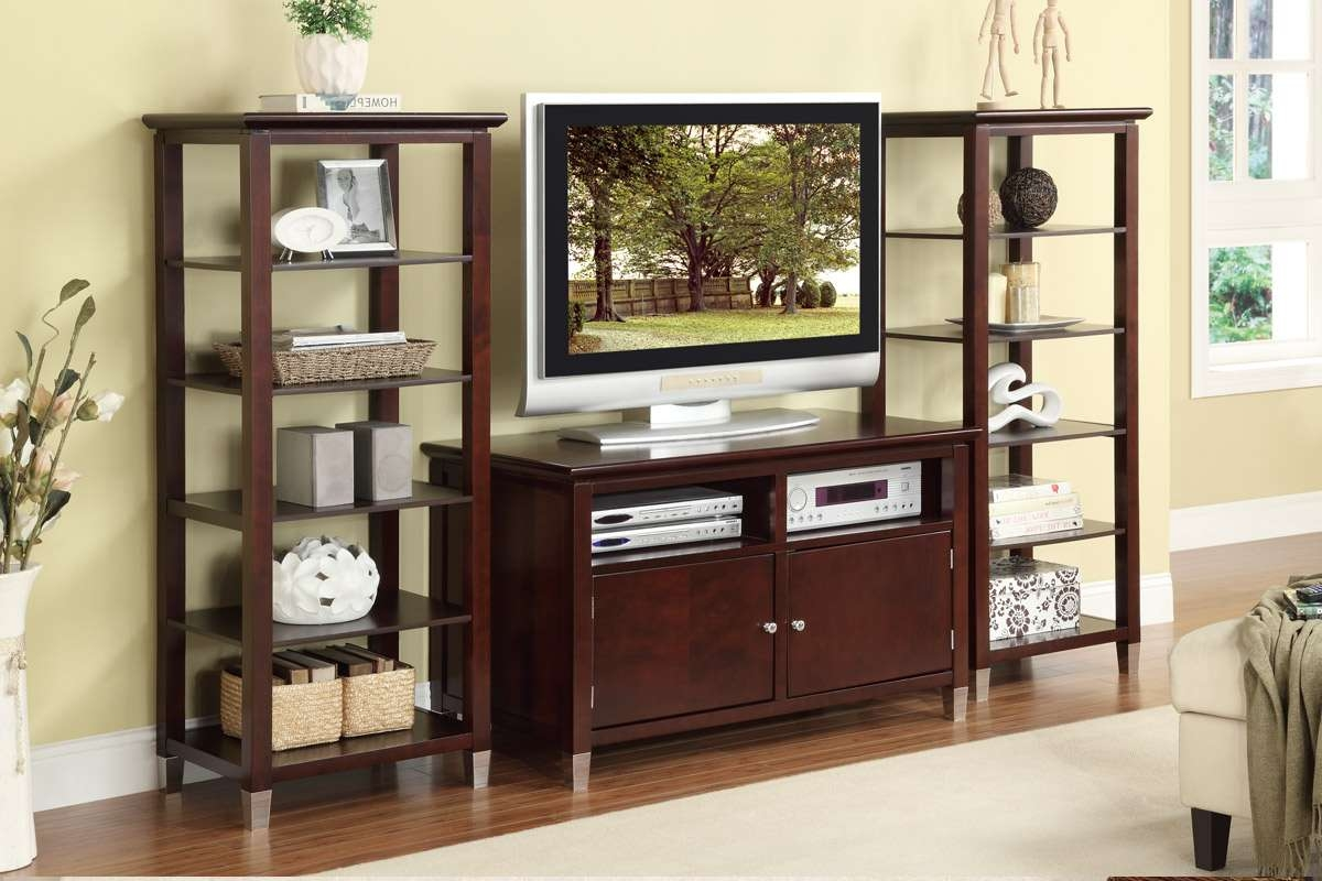 Contemporary Tv Stand With Storage And Optional Media Shelves With Storage Tv Stands (View 4 of 15)
