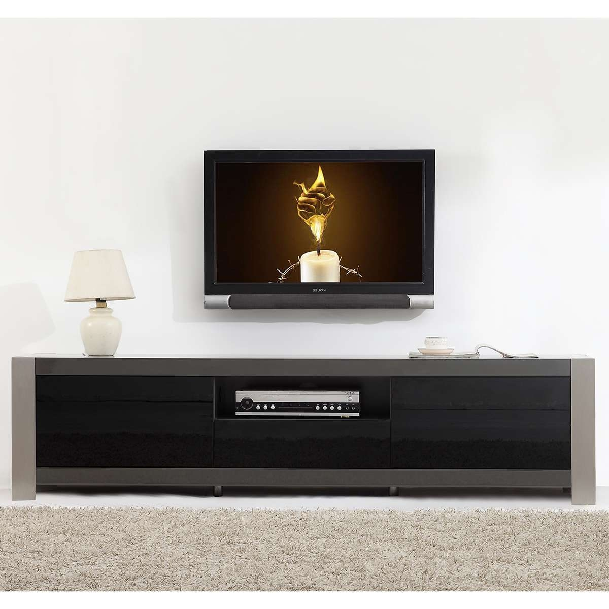 Contemporary Tv Stands Toronto In Stylized Together With Tv Wall Intended For Contemporary Black Tv Stands (View 5 of 15)