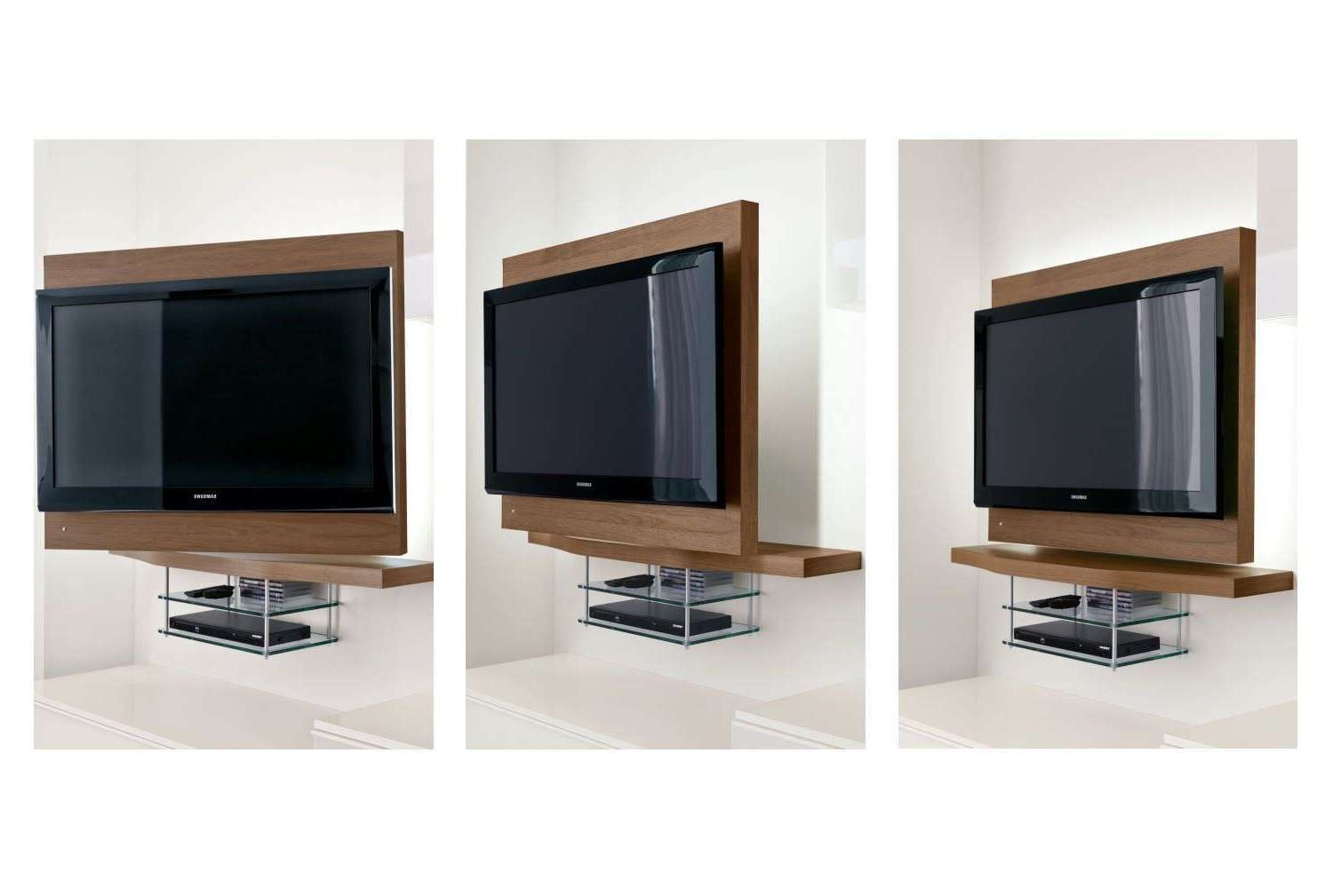 Contemporary Tv Wall Unit Wooden Lacquered Wood Napol Furnitures In Tv Stands With Back Panel (View 3 of 15)