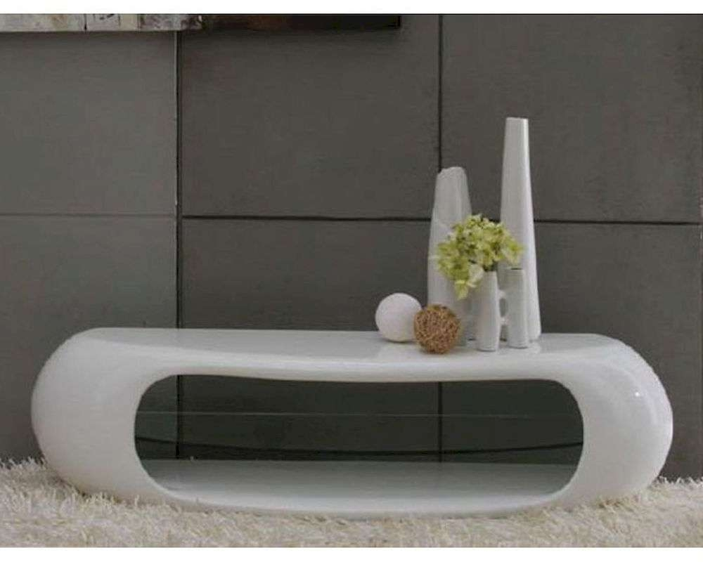 Contemporary White High Gloss Tv Stand 44Ent1162 Intended For High Gloss White Tv Stands (View 5 of 15)