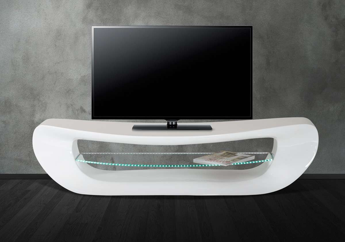 Contemporary White Tv Stand With Regard To Modern White Lacquer Tv Stands (View 3 of 15)