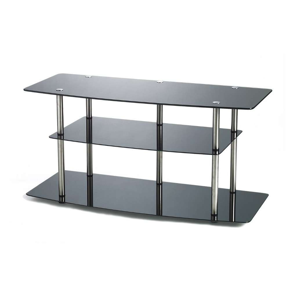 Convenience Concepts Classic Black Glass Tv Stand R2 221 : Rural King In Black Glass Tv Stands (View 7 of 15)