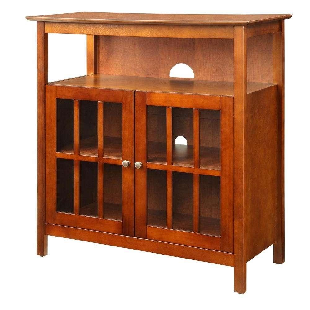 Convenience Concepts Designs2Go Big Sur Espresso Storage In Highboy Tv Stands (View 6 of 15)