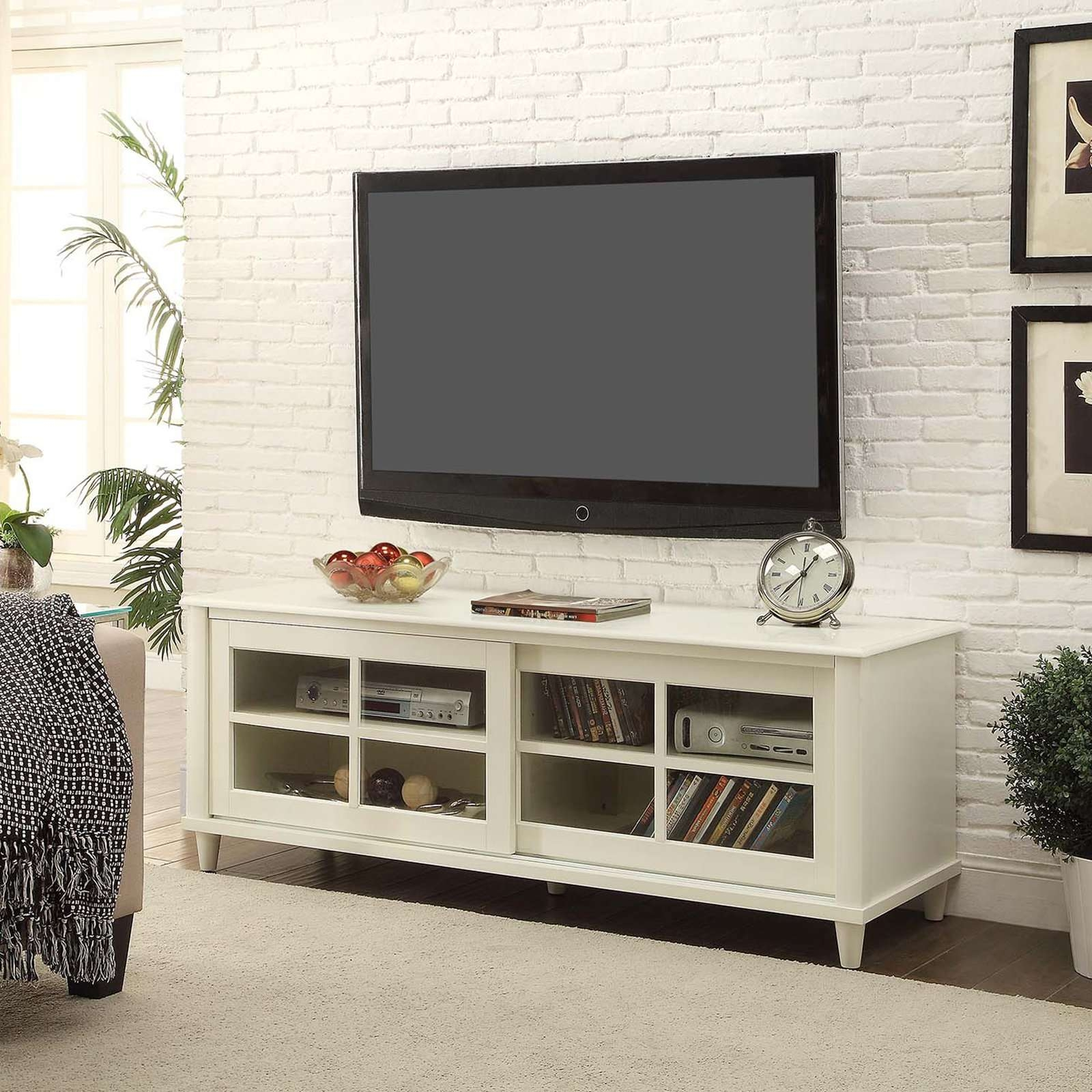 Convenience Concepts French Country Black & Cherry Tv Stand, For With Regard To Country Tv Stands (View 2 of 15)