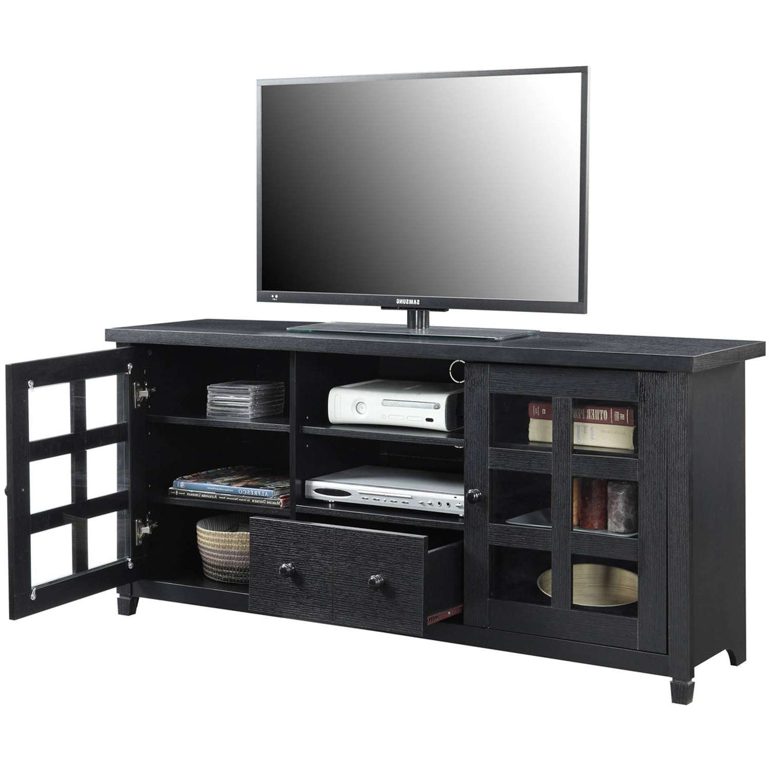 Convenience Concepts Newport Park Lane Tv Stand For Tvs Up To 60 Inside Lane Tv Stands (View 14 of 15)