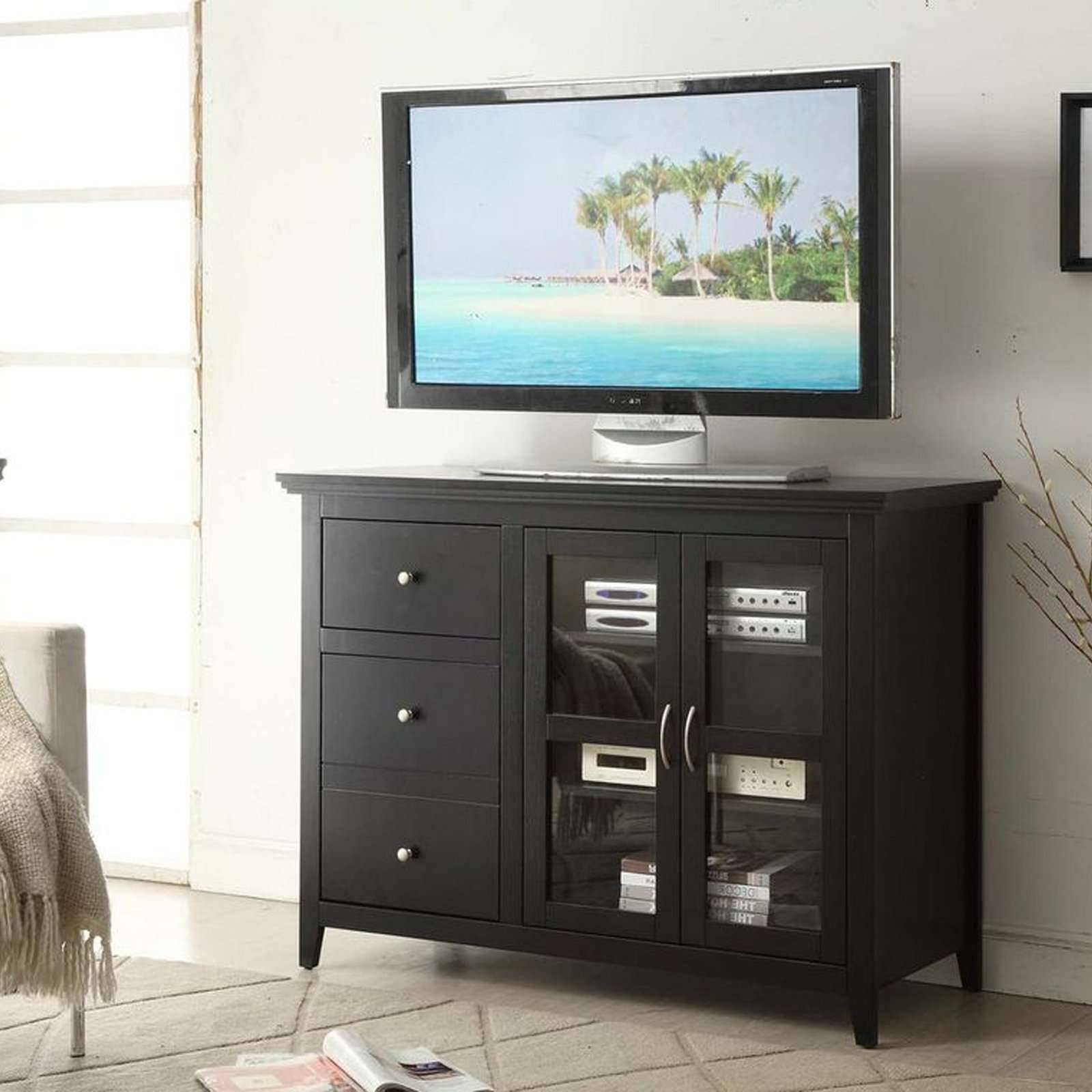 Convenience Concepts Sierra Highboy Tv Stand | Hayneedle Regarding Highboy Tv Stands (View 8 of 15)
