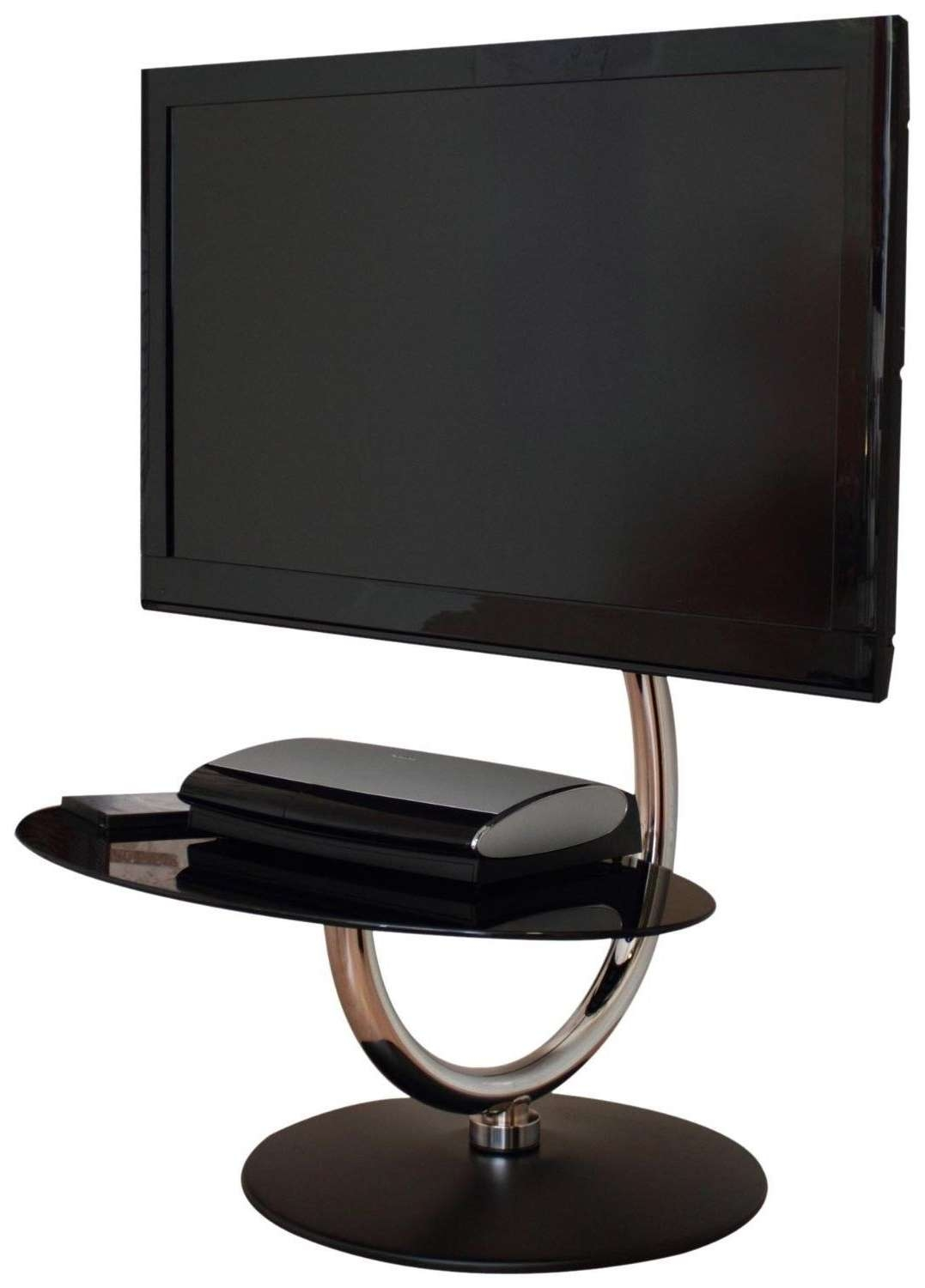 Cool Modern Tv Stand For Flat Screen Tv With Single Tempered Glass Inside Single Shelf Tv Stands (View 2 of 20)