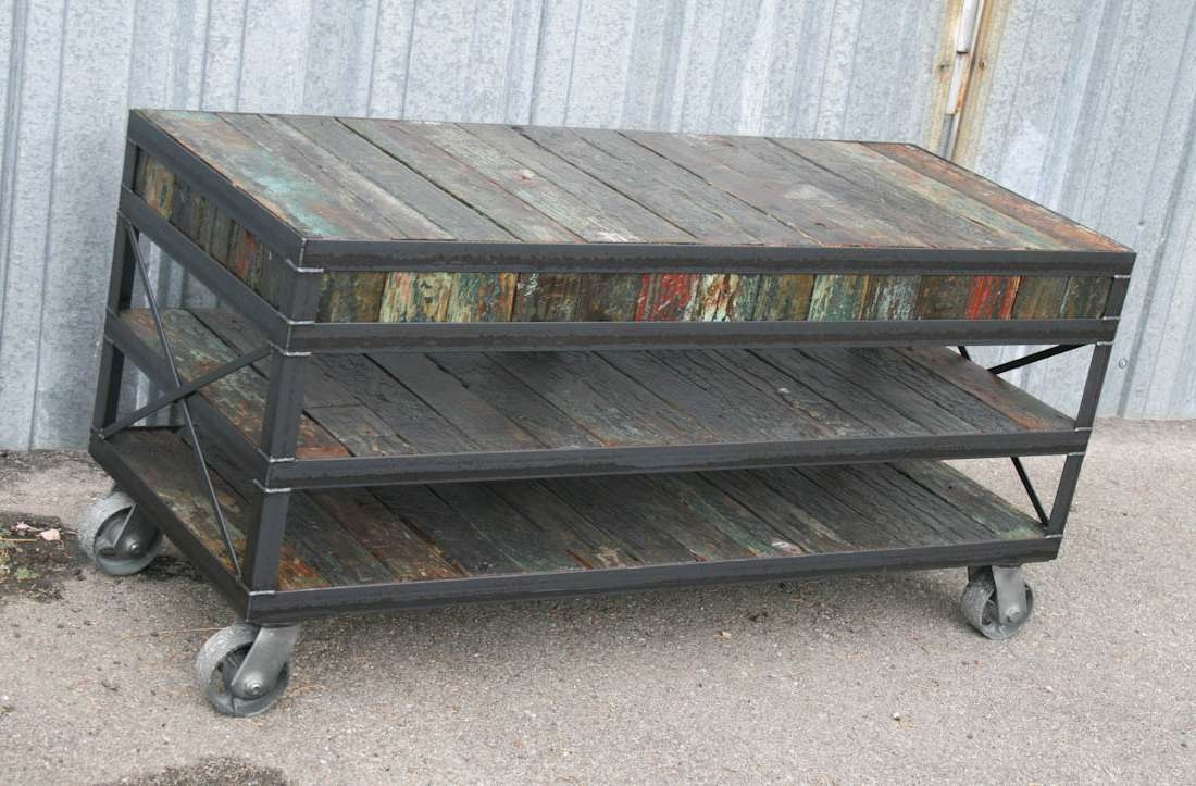 Cool Vintage Media Cabinet Reclaimed Wood Industrial Tv Stand With Regard  To Industrial Tv Cabinets (