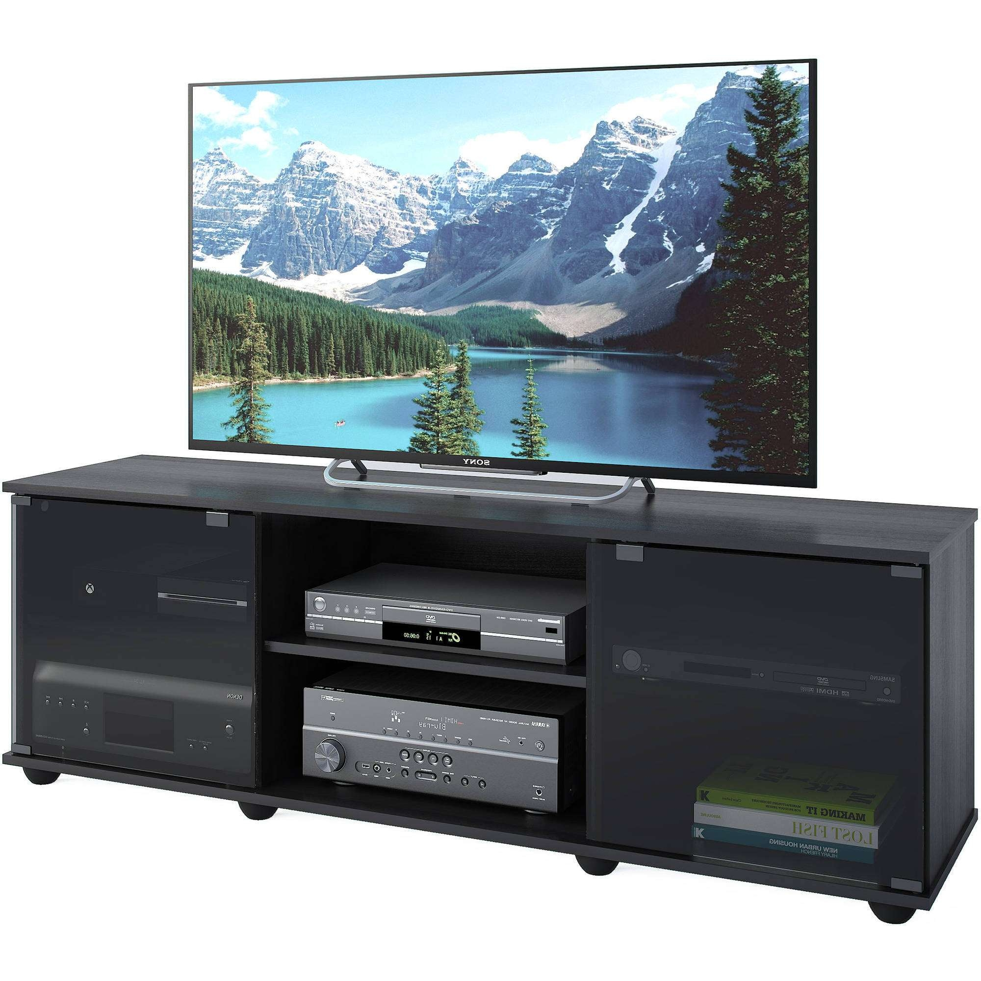 "Corliving Fiji Tv Bench For Tvs Up To 64"", Ravenwood Black In Sonax Tv Stands (View 4 of 15)"