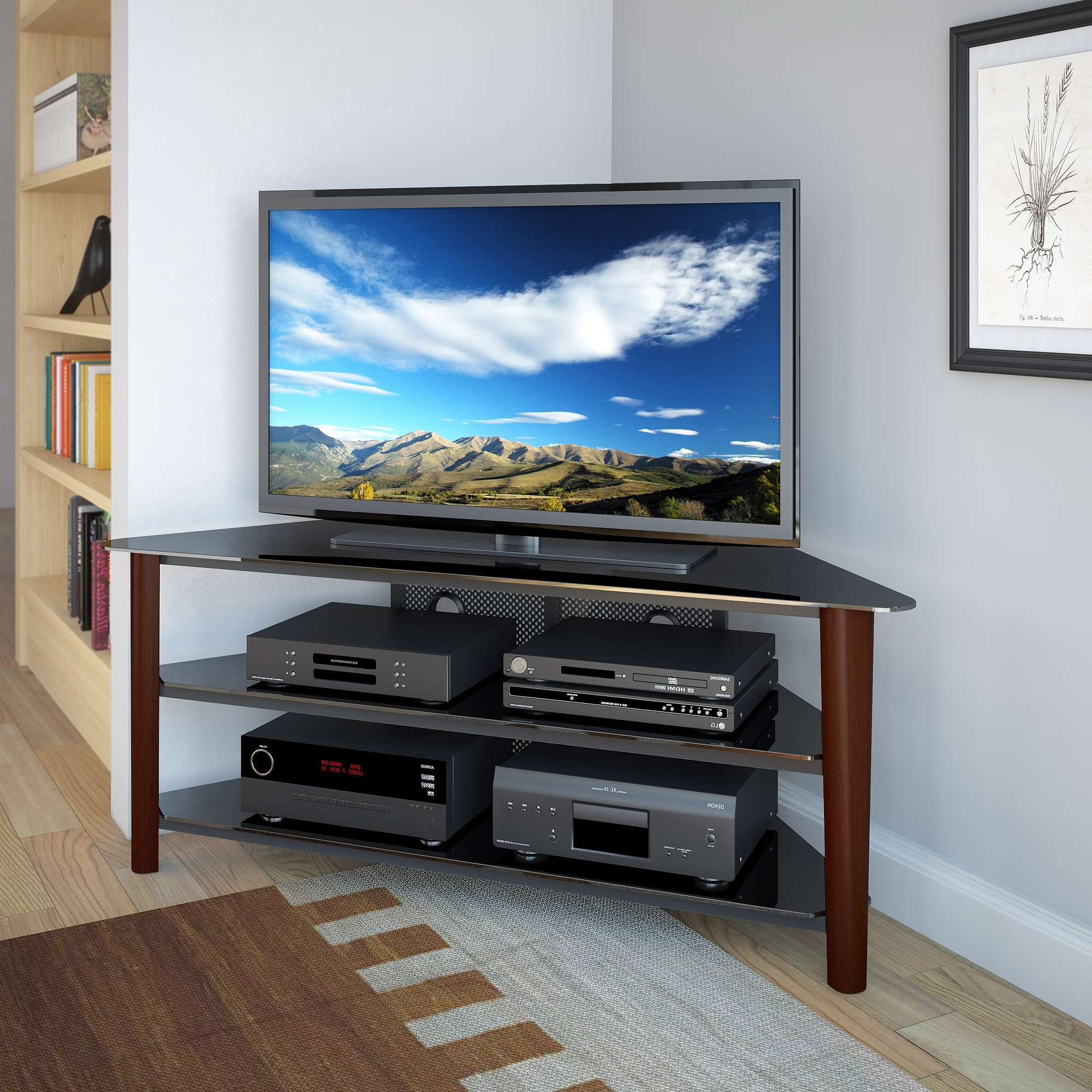 Corner Tv Stand For 55 Inch Flat Screen For Corner Tv Stands For 55 Inch Tv (View 3 of 15)