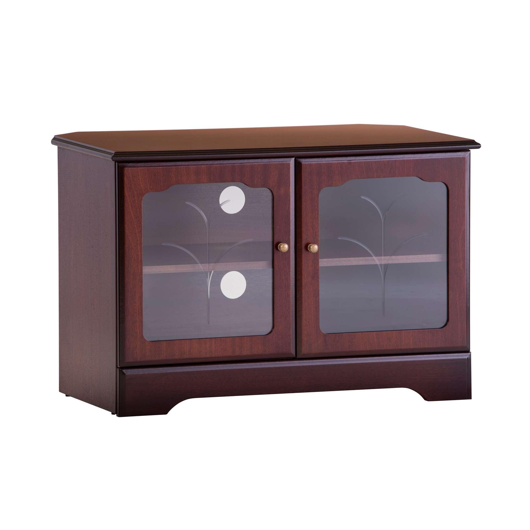 Corner Tv Stand In Mahogany Or Teak | Gola Furniture Uk Regarding Mahogany Corner Tv Stands (View 4 of 15)