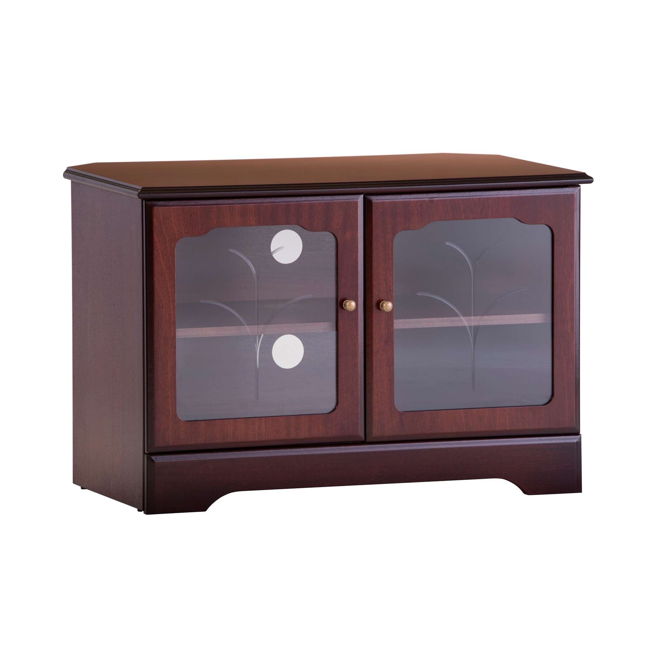 Corner Tv Stand In Mahogany Or Teak | Gola Furniture Uk With Regard To Mahogany Tv Stands (View 7 of 15)