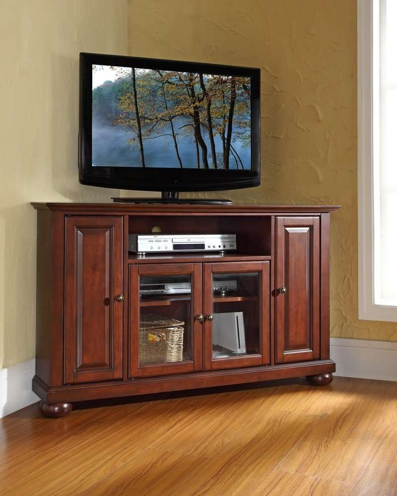 Corner Tv Stands For Flat Screen Tv – Furniture Depot Throughout Triangular Tv Stands (View 3 of 15)