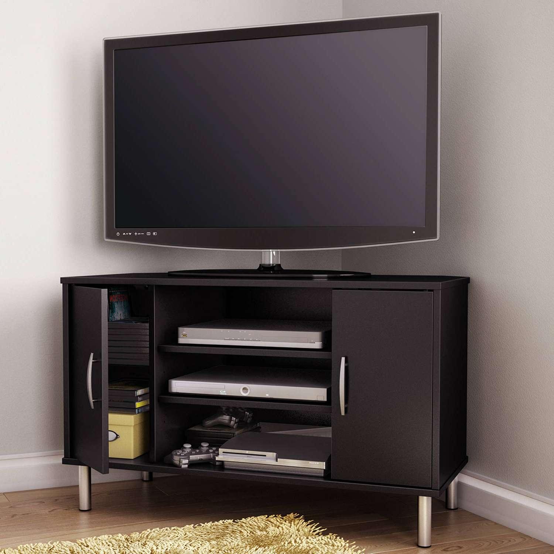 Corner Tv Stands For Flat Screen Tvs Regarding Glass Corner Tv Stands For Flat Screen Tvs (View 6 of 15)