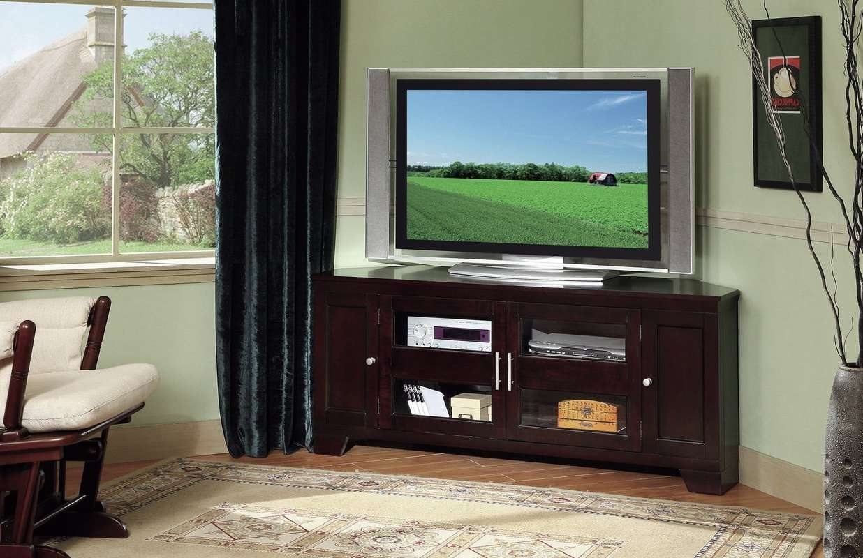 Corner Tv Stands You'll Love Pertaining To Tv Stands For Corners (View 11 of 20)