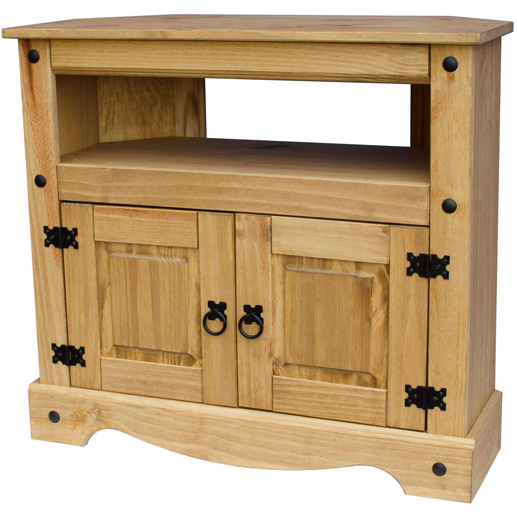 Corona Panama Tv Cabinet Media Dvd Unit Solid Pine Wood Mexican Throughout Rustic Corner Tv Cabinets (View 13 of 20)