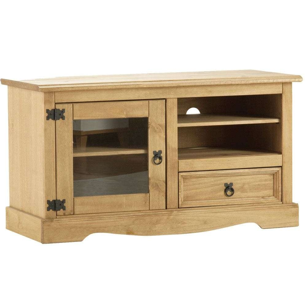 Corona Panama Tv Cabinet Media Dvd Units Wood Solid Pine Furniture Regarding Pine Tv Cabinets (View 7 of 20)
