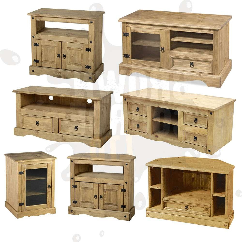 Corona Tv Stand Living Room Furniture Solid Wood Mexican Pine Of In Pine Corner Tv Stands (View 11 of 15)