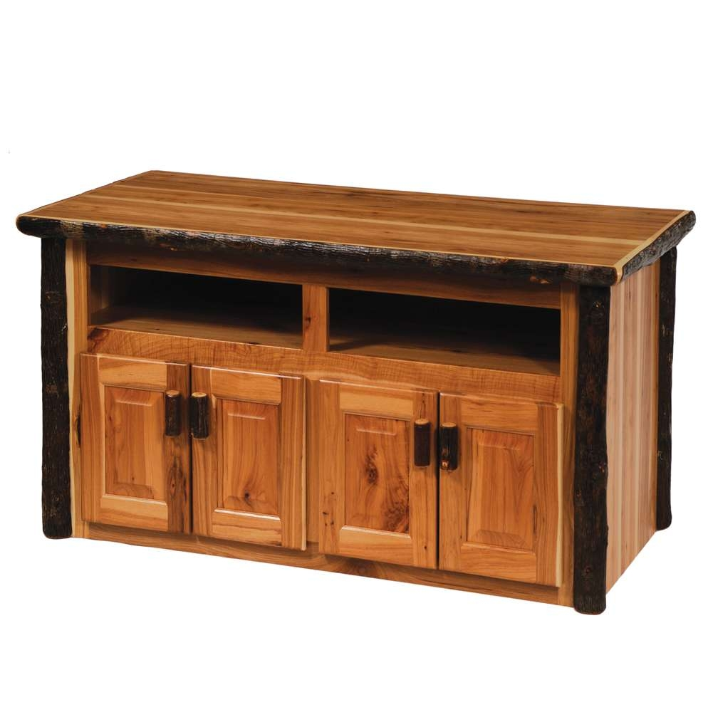 Cottage Hickory Widescreen Tv Stand | Rustic Furniture Mall With Regard To Rustic Furniture Tv Stands (View 4 of 20)